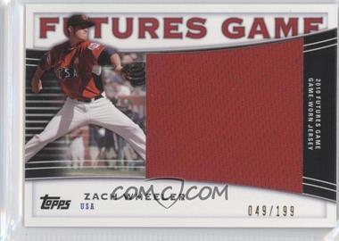 2010 Topps Pro Debut - Futures Game Relics #FGR-ZW - Zach Wheeler /199