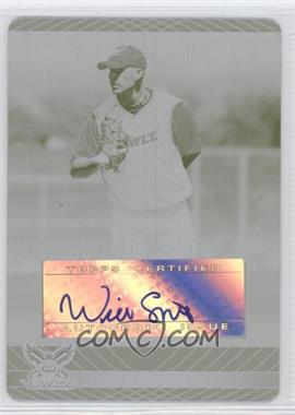 2010 Topps Pro Debut - Prospect Autographs - Printing Plate Yellow [Autographed] #PDA-WS - Will Smith /1
