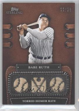 2010 Topps Sterling - Legendary Leather 3 Piece Memorabilia #3LLR-2 - Babe Ruth /25
