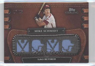 2010 Topps Sterling - Legendary Leather 4 Piece Memorabilia #4LLR-10 - Mike Schmidt /25