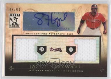 2010 Topps Tribute - Dual Relic Autographs #TADR-JH - Jason Heyward /99