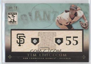 2010 Topps Tribute - Relic - Blue #TR-TL - Tim Lincecum /75