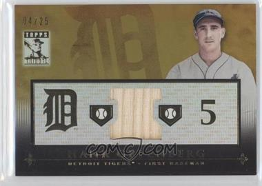 2010 Topps Tribute - Relic - Gold #TR-HG - Hank Greenberg /25