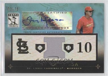 2010 Topps Tribute - Relic Autographs - Blue #TAR-TL - Tony LaRussa /75