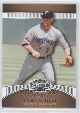 2010 Topps Triple Threads - [Base] - Sepia #110 - Aaron Hill /525