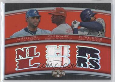 2010 Topps Triple Threads - Relic Combos #TTRC-44 - Albert Pujols, Ryan Howard, Prince Fielder /36