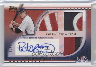 2010 Topps USA Baseball Team - Autograph Relics - Patches #USAAR-PO - Peter O'Brien /50