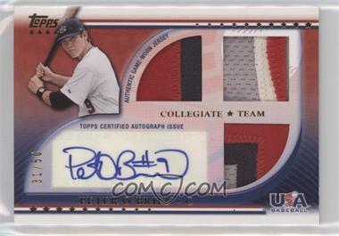 2010 Topps USA Baseball Team - Autograph Relics - Patches #USAAR-PO - Peter O'Brien /50