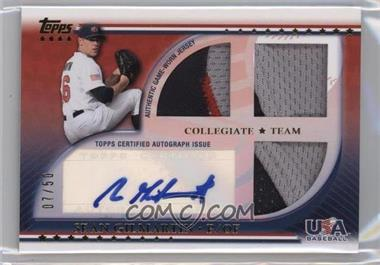 2010 Topps USA Baseball Team - Autograph Relics - Patches #USAAR-SG - Sean Gilmartin /50