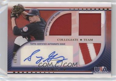 2010 Topps USA Baseball Team - Autograph Relics - Patches #USAAR-SGR - Sonny Gray /50