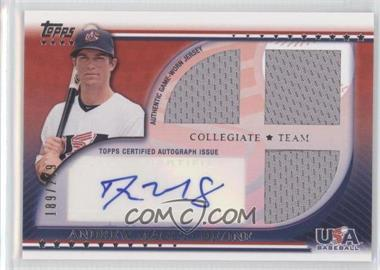 2010 Topps USA Baseball Team - Autograph Relics #USAAR-AM - Andrew Maggi /219