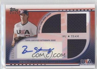 2010 Topps USA Baseball Team - Autograph Relics #USAAR-BS - Bubba Starling /219