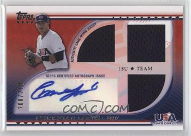 2010 Topps USA Baseball Team - Autograph Relics #USAAR-CL - Christian Lopes /219