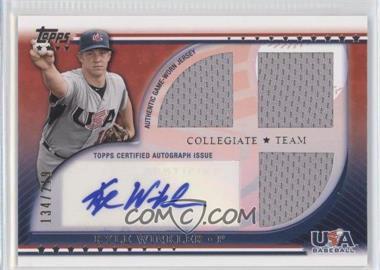 2010 Topps USA Baseball Team - Autograph Relics #USAAR-KW - Kyle Winkler /219