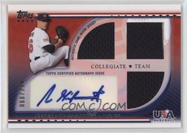 2010 Topps USA Baseball Team - Autograph Relics #USAAR-SG - Sean Gilmartin /219