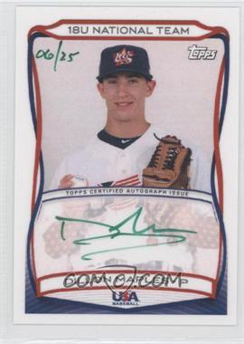 2010 Topps USA Baseball Team - Autographs - Green Ink #A-9 - Dillon Maples /25