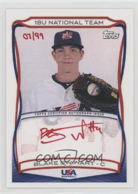 2010 Topps USA Baseball Team - Autographs - Red Ink #A-3 - Blake Swihart /99
