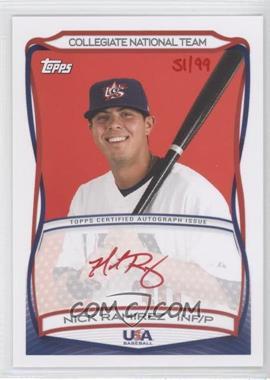 2010 Topps USA Baseball Team - Autographs - Red Ink #A-36 - Nick Ramirez /99