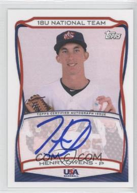 2010 Topps USA Baseball Team - Autographs #A-12 - Henry Owens