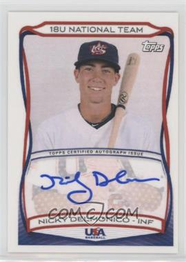 2010 Topps USA Baseball Team - Autographs #A-18 - Nicky Delmonico