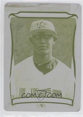2010 Topps USA Baseball Team - [Base] - Printing Plate Yellow #USA-21 - Ricardo Jacquez /1