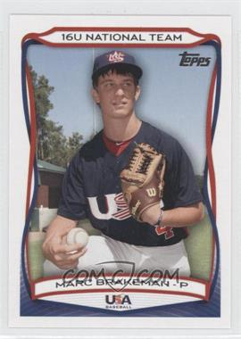2010 Topps USA Baseball Team - [Base] #USA-48 - Marc Brakeman