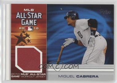 2010 Topps Update Series - All-Star Stitches Relics #AS-MC - Miguel Cabrera