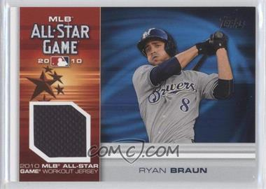 2010 Topps Update Series - All-Star Stitches Relics #AS-RB - Ryan Braun