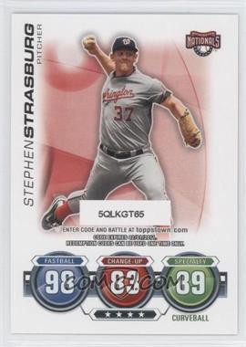 2010 Topps Update Series - Attax Code Cards #STST - Stephen Strasburg