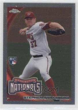 2010 Topps Update Series - Chrome Refractor RC Box Loader #CHR01 - Stephen Strasburg