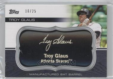 2010 Topps Update Series - Manufactured Bat Barrels - Black #MBB-106 - Troy Glaus /25
