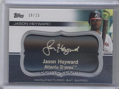 2010 Topps Update Series - Manufactured Bat Barrels - Black #MBB-30 - Jason Heyward /25
