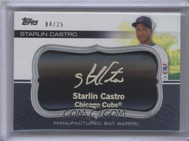 2010 Topps Update Series - Manufactured Bat Barrels - Black #MBB-95 - Starlin Castro /25