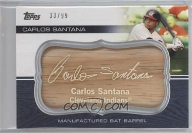 2010 Topps Update Series - Manufactured Bat Barrels #MBB-97 - Carlos Santana /99