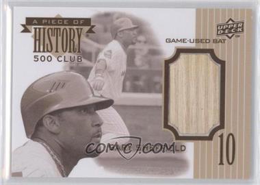 2010 Upper Deck - A Piece of History 500 Homerun Club #500HR-GS - Gary Sheffield /350