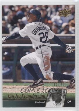 2010 Upper Deck - [Base] - Gold #202 - Curtis Granderson /99