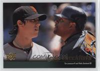 Tim Lincecum, Pablo Sandoval (San Francisco Giants Team Checklist) /99
