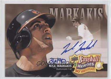 2010 Upper Deck - Baseball Heroes 20th Anniversary Art - Autographs [Autographed] #BHA-7 - Nick Markakis /90