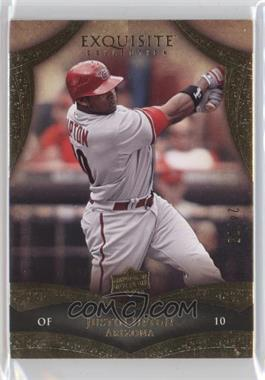 2010 Upper Deck - Exquisite Collection #64 - Justin Upton /75