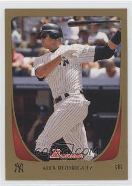 2011 Bowman - [Base] - Gold #170 - Alex Rodriguez