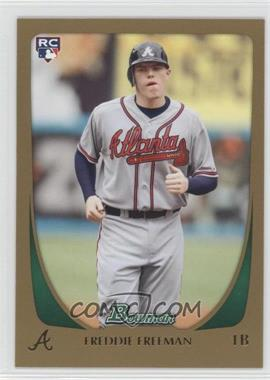 2011 Bowman - [Base] - Gold #205 - Freddie Freeman