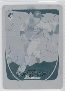 2011 Bowman - [Base] - International Printing Plate Cyan #213 - Ozzie Martinez /1