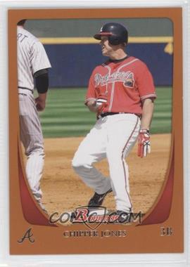 2011 Bowman - [Base] - Orange #17 - Chipper Jones /250