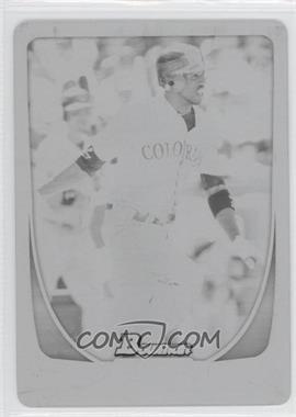 2011 Bowman - [Base] - Printing Plate Black #139 - Dexter Fowler /1
