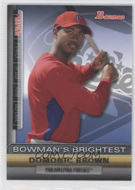 2011 Bowman - Bowman's Brightest #BBR18 - Domonic Brown