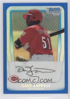 2011 Bowman - Chrome Prospects - Blue Refractor #BCP37 - Dave Sappelt /250