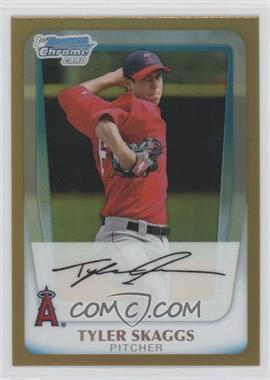 2011 Bowman - Chrome Prospects - Gold Refractor #BCP194 - Tyler Skaggs /50