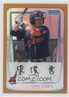 2011 Bowman - Chrome Prospects - Gold Refractor #BCP26 - Chun-Hsiu Chen /50