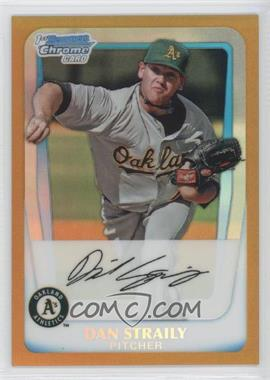 2011 Bowman - Chrome Prospects - Gold Refractor #BCP53 - Dan Straily /50