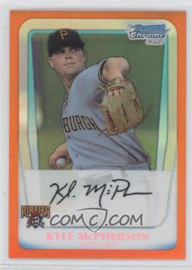 2011 Bowman - Chrome Prospects - Orange Refractor #BCP31 - Kyle McPherson /25